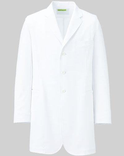 [カゼン] KAZEN 【こだわりのシルエットとさらりとした着心地の診察衣】 メンズ 診察衣 KZN113-40 (ホワイト)