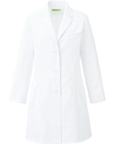 [カゼン] KAZEN 【こだわりのシルエットとさらりとした着心地の診察衣】 レディース 診察衣 KZN127-40 (ホワイト)