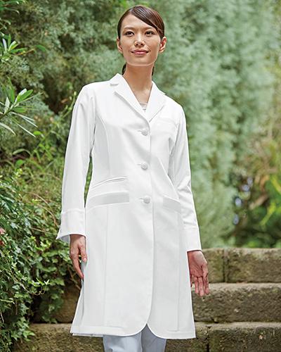 [カゼン] KAZEN 【BIANCA BY KAZEN こだわりの白を使用した診察衣】 レディース 診察衣 KZN410-10 (ホワイト)