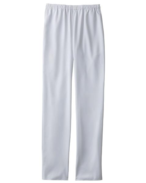 [カゼン] KAZEN 【軽量でストレッチ性抜群のスクラブパンツ】  男女兼用 スラックス KZN551-10 (ホワイト)