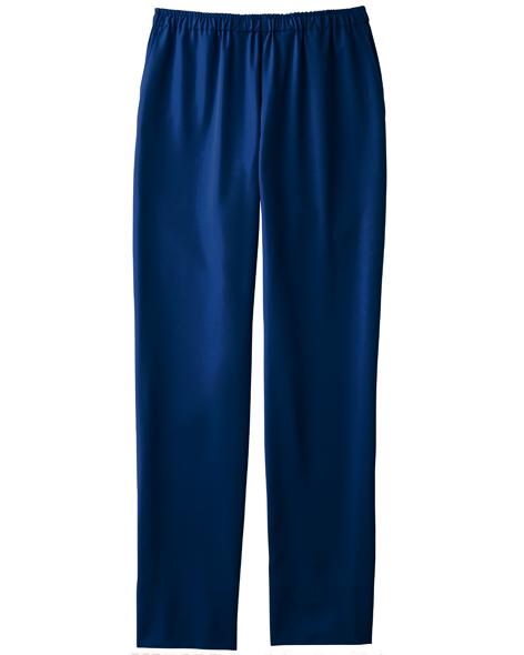 [カゼン] KAZEN 【軽量でストレッチ性抜群のスクラブパンツ】  男女兼用 スラックス KZN551-18 (ネイビー)