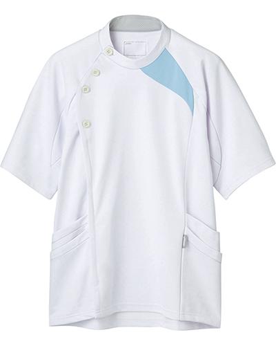 [アシックス] asics 【立体裁断でスムーズな動きを実現した医療ジャケット】 メンズ ジャケット LKM501-0145(ホワイト×ブルー)