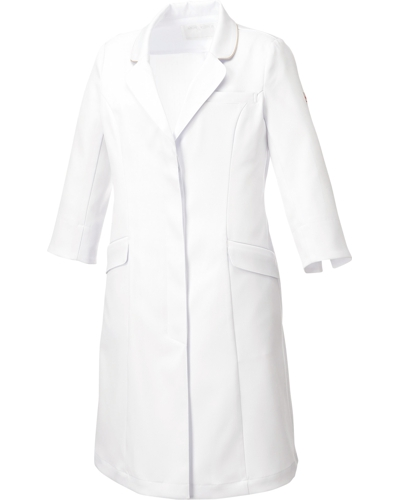 [ミッシェルクラン] MICHEL KLEIN 【女性らしいデザインと丈夫さ兼ね備えたドクターコート】 女性用 ドクターコート MK-0012 (ホワイト)