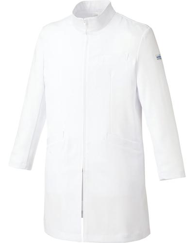 [ミッシェルクラン] MICHEL KLEIN 【スタンドカラーとジップアップ式の丈夫さ兼ね備えたドクターコート】 男性用 ドクターコート MK-0013 (ホワイト)