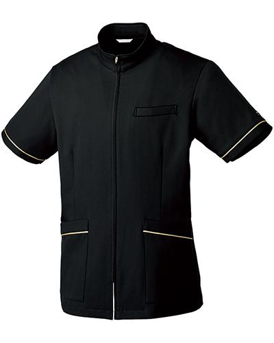 [ミッシェルクラン] MICHEL KLEIN 【シルエットがお洒落なジップアップジャケット】 男性用 メンズジャケット MK-0024 (ブラック)