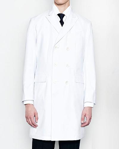 [ミズノ] MIZUNO 【上質さと品格を兼ね備えたダブルドクターコート】 メンズ ダブルドクターコート MZ-0026  (ホワイト)