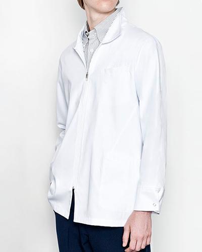 [ミズノ] MIZUNO 【人気のスタンドカラー・ハーフ丈】 メンズ ドクターコート(ショート丈) MZ-0056  (ホワイト)