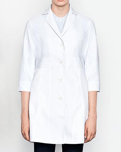 [ミズノ] MIZUNO 【おしゃれで、動きやすい、七分袖ドクターコート】 レディース ドクターコート(七分袖) MZ-0057   (ホワイト)
