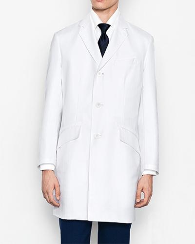 [ミズノ] MIZUNO 【品格と機能を兼ね備えたドクターコート】 メンズ チェスターコート MZ-0133   (ホワイト)