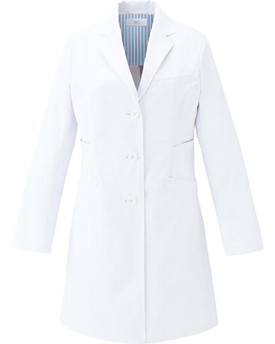[ミズノ] MIZUNO 【二段の両脇ポケットで収納性抜群のドクターコート】 レディース ドクターコート MZ-0136   (ホワイト×ホワイト)
