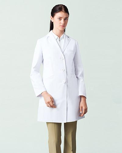 [ミズノ] MIZUNO 【高級感と品格を感じさせるドクターコート】 レディース ドクターコート MZ-0138   (ホワイト)