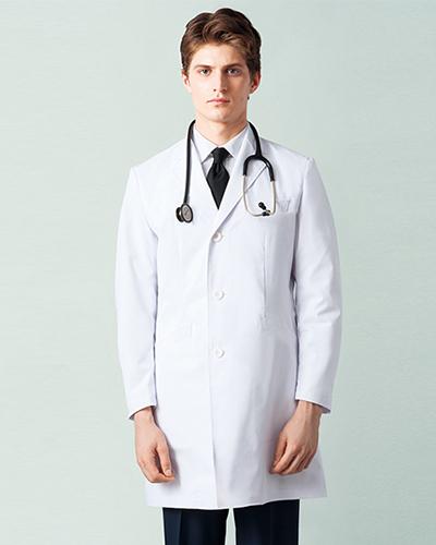 [ミズノ] MIZUNO 【高級感と品格を感じさせるドクターコート】 メンズ ドクターコート MZ-0139  (ホワイト)