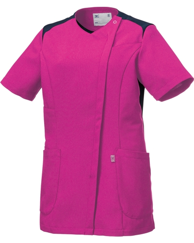 [ミズノ] MIZUNO 【ツートンカラーがスタイリッシュなスクラブジャケット】 女性用 ジャケット MZ-0165 (ライラック)