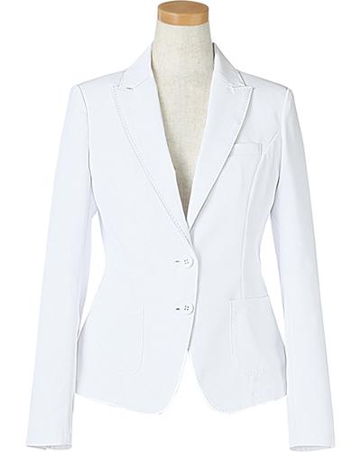 [リゼルヴァ]  RISERVA 【品格のあるテーラードジャケット】 女性用 長袖ドクタージャケット R2640 (ホワイト)