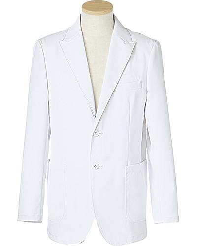 [リゼルヴァ]  RISERVA 【品格のあるテーラードジャケット】 男性用 長袖ドクタージャケット R2690 (ホワイト)