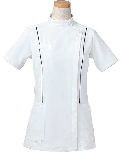 [リゼルヴァ]  RISERVA 【パイピングのでスマートなスタイルを演出するケーシー】 女性用 ケーシージャケット R8444 (ネイビー)