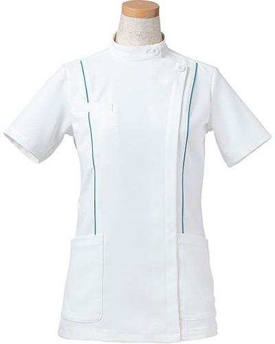 [リゼルヴァ]  RISERVA 【パイピングのでスマートなスタイルを演出するケーシー】 女性用 ケーシージャケット R8444 (ターコイズ)
