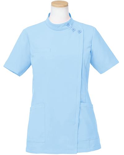 [リゼルヴァ]  RISERVA 【品のあるスタンダードなデザインのケーシー白衣】 女性用 ケーシージャケット R8746 (ブルー)
