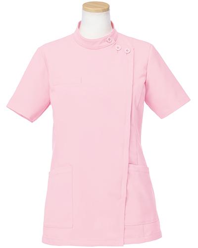 [リゼルヴァ]  RISERVA 【品のあるスタンダードなデザインのケーシー白衣】 女性用 ケーシージャケット R8746 (ピンク)