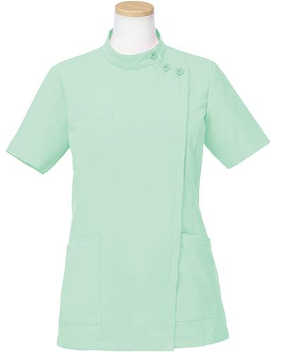 [リゼルヴァ]  RISERVA 【品のあるスタンダードなデザインのケーシー白衣】 女性用 ケーシージャケット R8746 (グリーン)