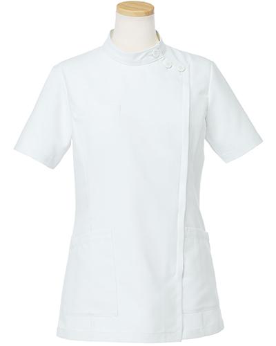 [リゼルヴァ]  RISERVA 【品のあるスタンダードなデザインのケーシー白衣】 女性用 ケーシージャケット R8746 (ホワイト)