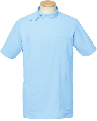 [リゼルヴァ]  RISERVA 【品のあるスタンダードなデザインのケーシー白衣】 男性用 ケーシージャケット R8796 (ブルー)