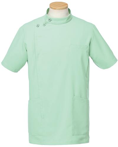 [リゼルヴァ]  RISERVA 【品のあるスタンダードなデザインのケーシー白衣】 男性用 ケーシージャケット R8796 (グリーン)