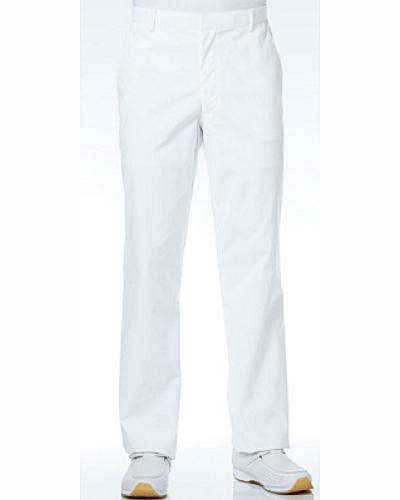 [カゼン] KAZEN 【抗菌・抗ウイルス機能と快適なストレッチ性を実現】  メンズ スラックス REP150-10 (ホワイト)