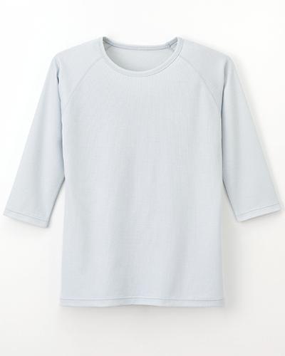 [ナガイレーベン] NAGAILEBEN 【吸湿発熱機能を付きのスクラブインナー】 男女兼用スクラブインナーTシャツ SI-5077(シルバー)