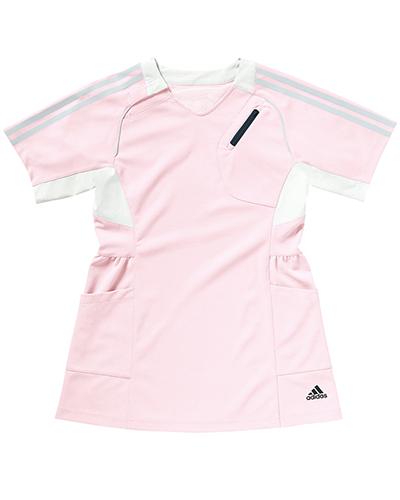 [アディダス] adidas 【女性らしいシルエットのチュニック丈スクラブ】 レディース チュニック丈スクラブ SMS001-13 (ピンク)