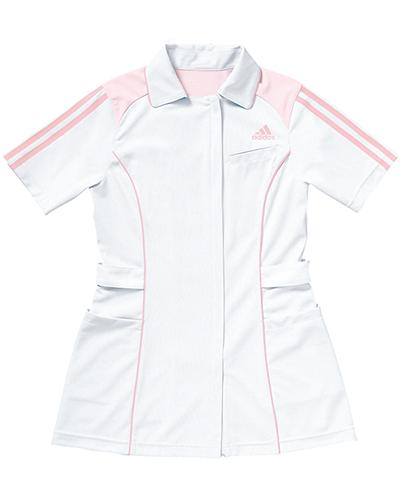 [アディダス] adidas 【ベーシックを極限まで究め、進化したメディカルウェア】 レディース ジャケット SMS002-10 (ホワイト×ピンク)