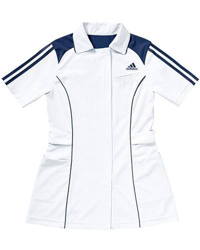 [アディダス] adidas 【ベーシックを極限まで究め、進化したメディカルウェア】 レディース ジャケット SMS002-18 (ホワイト×ネイビー)