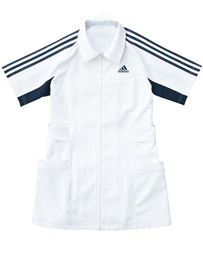 [アディダス] adidas 【ハードなメディカルシーンで活躍するタフウェア】 レディース ジャケット SMS003-18 (ホワイト×ネイビー)