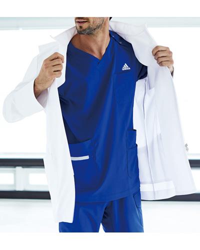 [アディダス] adidas 【驚きの軽さと動きやすさを備えたスタンドカラードクターコート】 メンズ ドクターハーフコート SMS202-10 (ホワイト)
