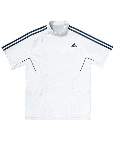 [アディダス] adidas 【医療現場を見極めた機能から魅せるジャケット】 メンズ ジャケット SMS601-18 (ホワイト×ネイビー)