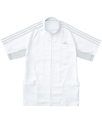 [アディダス] adidas 【汗を即座に乾かし、快適な着心地を長時間キープするジャケット】 メンズ ジャケット SMS603-17 (ホワイト×グレー)