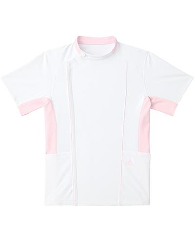 [アディダス] adidas 【快適をテーマに作られた全く新しいケーシージャケット】 男女兼用 ジャケット SMS620-13 (ホワイト×ピンク)