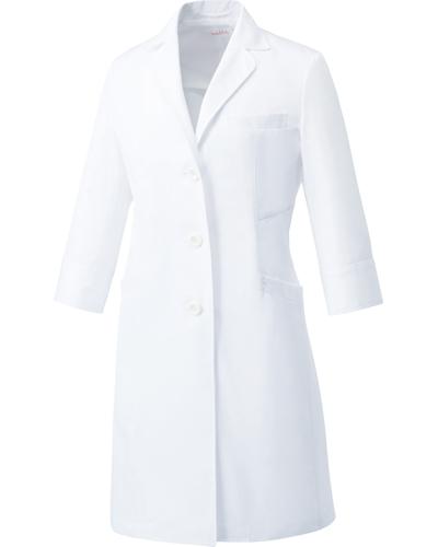 [ユナイト] UNITE 【二段の両脇ポケットで収納性抜群のドクターコート】 レディース ドクターコート (七分袖) UN-0061 (ホワイト)