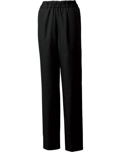 [ユナイト] UNITE 【丈夫さを備えた光沢感のある上品なパンツ】 女性用 スクラブパンツ UN-0072 (ブラック)