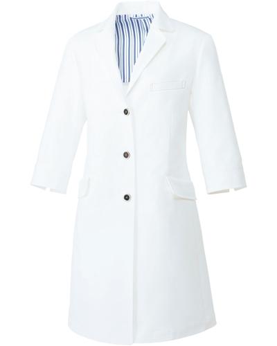 [ユナイト] UNITE 【洗練された上質感を醸すドクターコート】 レディース ドクターコート(七分袖) UN-0081 (ホワイト)