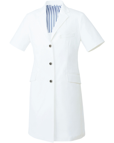 [ユナイト] UNITE 【洗練された上質感を醸すドクターコート】 レディース ドクターコート(半袖) UN-0082 (ホワイト)