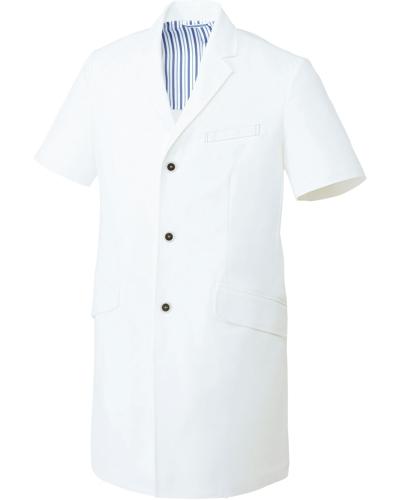[ユナイト] UNITE 【洗練された上質感を醸すドクターコート】 メンズ ドクターコート(半袖) UN-0083 (ホワイト)