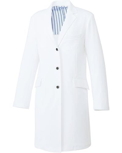 [ユナイト] UNITE 【耐久性に優れた動きやすいニット素材】 レディース ドクターコート UN-0084 (ホワイト)