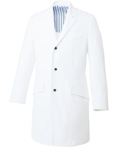 [ユナイト] UNITE 【耐久性に優れた動きやすいニット素材】 メンズ ドクターコート UN-0085 (ホワイト)