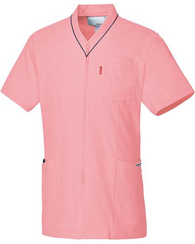 [ルコックスポルティフ] le coq sportif 【着脱のしやすい前開き仕様のスクラブ】 男女兼用 スクラブ UQM1526N(ピンク)
