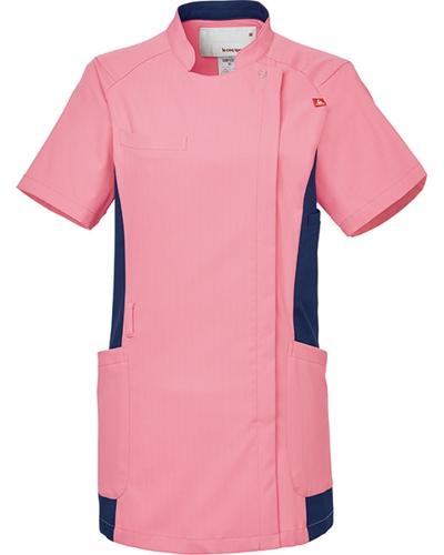[ルコックスポルティフ] le coq sportif 【スタンドカラーが印象的なジャケット】 女性用 バイカラージャケット UQW1049(ピンク)