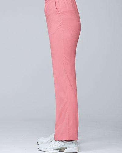 [ルコックスポルティフ] le coq sportif 【ウエスト総ゴムで楽々フィット】  女性用 ストレートパンツ UQW2038 (ピンク)