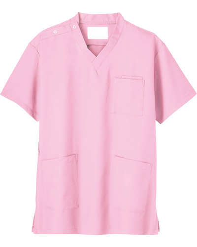 [ホワイセル] WHISeL 【格安でも充実の機能とカラーラインナップが嬉しいスクラブ】 男女兼用 スクラブ WH11485 (ピンク)