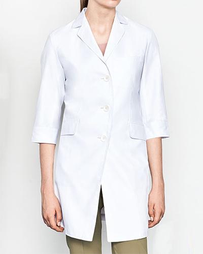 [ミズノ] MIZUNO 【おしゃれで、動きやすい、七分袖ドクターコート】 レディース ドクターコート(七分袖) MZ-0024 (ホワイト)
