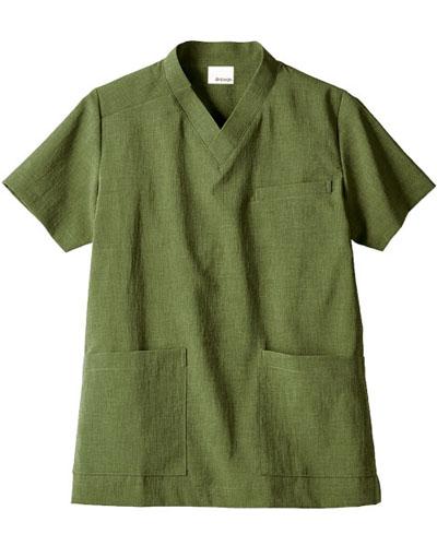 [モンブラン] MONTBLANC 【環境に配慮した天然色素のエコ素材】 男女兼用 スクラブジャケット OV6503-6(オリーブ)